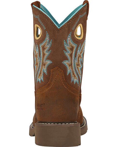 Ariat Women's Fatbaby Cowgirl Western Work Boots, Tan, hi-res