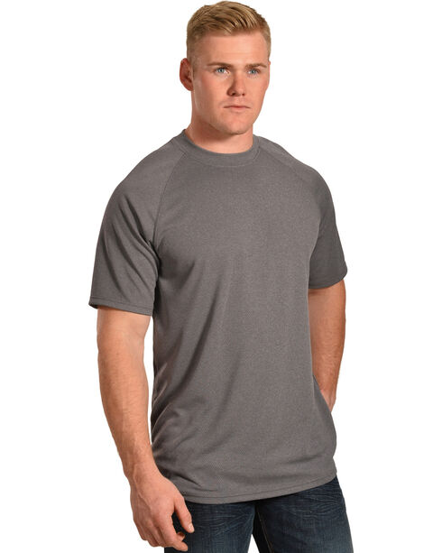 American Worker Men's Rigzone Crew Neck T-Shirt, Charcoal, hi-res