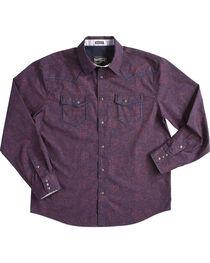 Moonshine Spirit Men's Burgundy Gunfight Long Sleeve Shirt , , hi-res