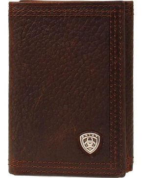 Ariat Men's Tri-Fold Wallet, Brown, hi-res
