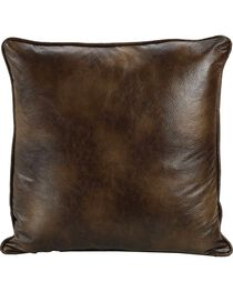 HiEnd Accents Dark Faux Leather Euro Sham, , hi-res