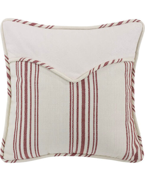 "HiEnd Accents Red Stripe Envelope Pillow - 18"" x 18"", Red, hi-res"