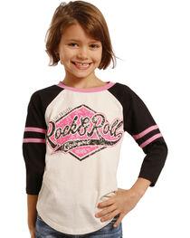 Rock & Roll Cowgirl Girls' Varsity Baseball Tee, , hi-res