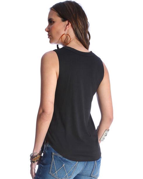 Wrangler Women's GIGI Cut Out Tank Top , Black, hi-res