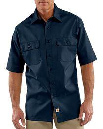 Carhartt Men's Short Sleeve Twill Work Shirt, , hi-res