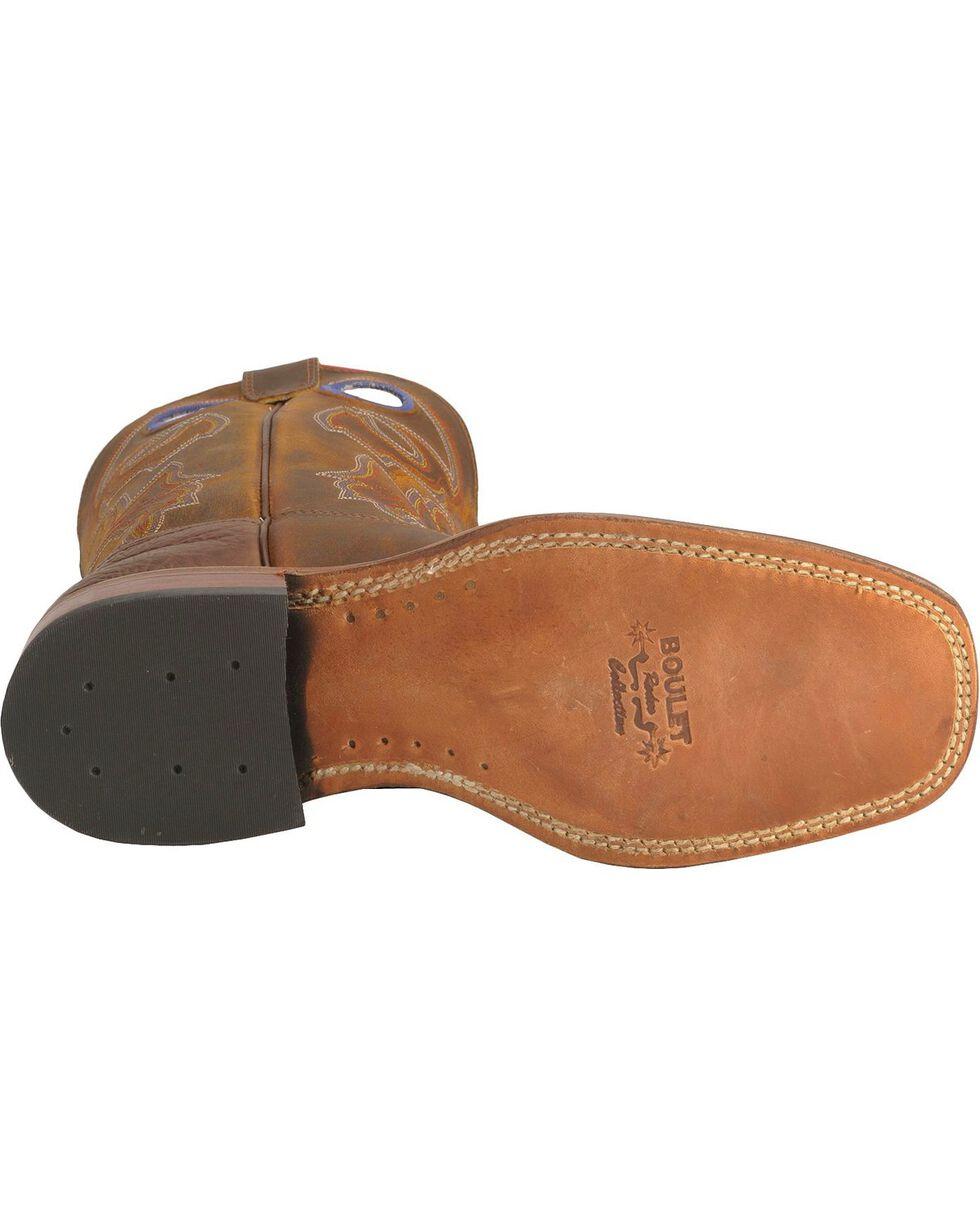 Boulet Stockman Cowboy Boots - Wide Square Toe, , hi-res