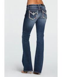 Miss Me Women's Indigo City Limits Mid-Rise Jeans - Boot Cut , , hi-res