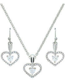 Montana Silversmiths Women's Straight to the Heart Jewelry Set, , hi-res