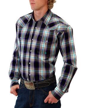 Roper Men's Amarillo Purple Haze Long Sleeve Shirt, Purple, hi-res