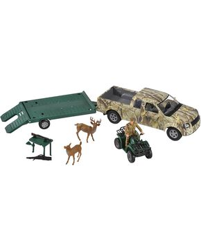 Bigtime Hunter Camo Truck with Trailer & Four Wheeler, Camouflage, hi-res