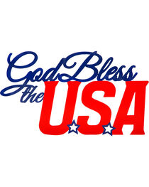 Evergreen God Bless the USA Metal Sign , , hi-res