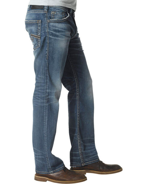 Silver Jeans Men's Zac Relaxed Fit Straight Leg Jeans , Denim, hi-res