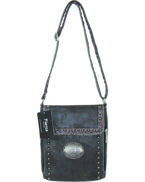 Savana Women's Fierce Conceal Carry Croco Trim Purse , Black, hi-res