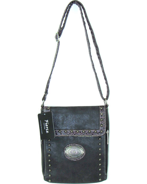 Savana Women's Fierce Conceal Carry Croco Trim Purse , , hi-res