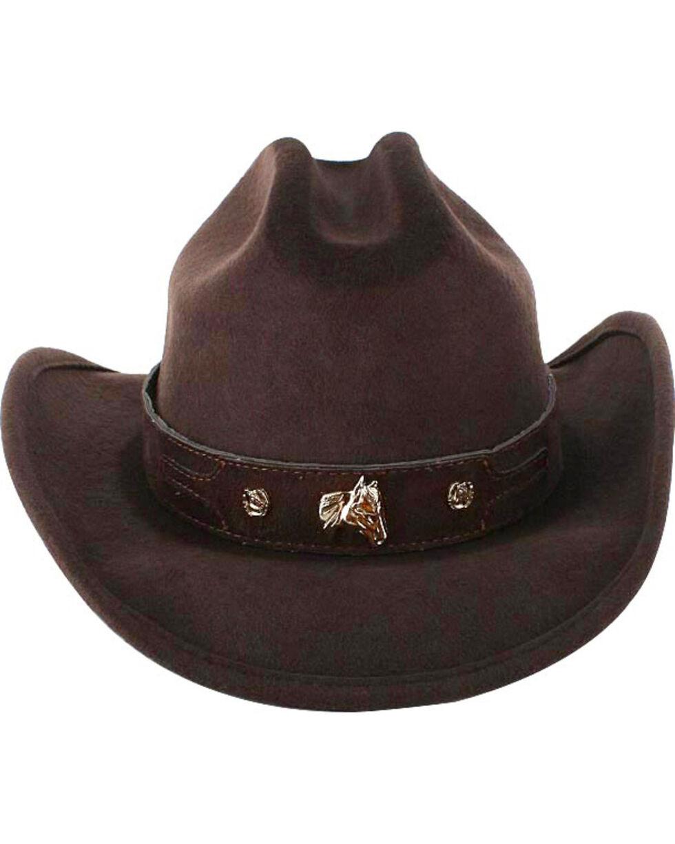 Cody James® Kid's Wool Cowboy Hat, Chocolate, hi-res