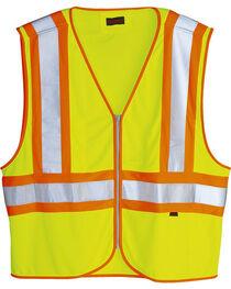 Wolverine Men's Yellow Mile Marker Vest , , hi-res
