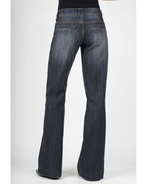 Stetson Women's 214 Fit City Dark Indigo Trouser Jeans, Med Wash, hi-res