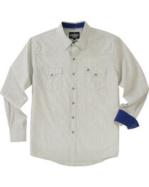 Garth Brooks Sevens by Cinch Men's Cream Pearl Snap Long Sleeve Shirt , , hi-res