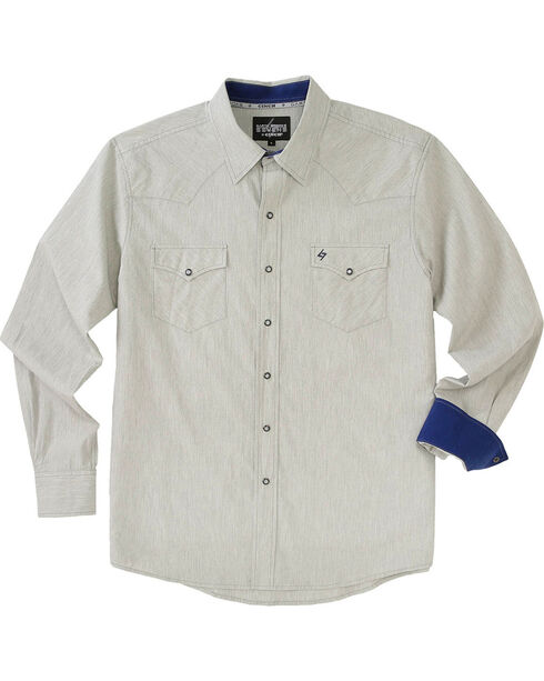Garth Brooks Sevens by Cinch Men's Cream Pearl Snap Long Sleeve Shirt , Cream, hi-res