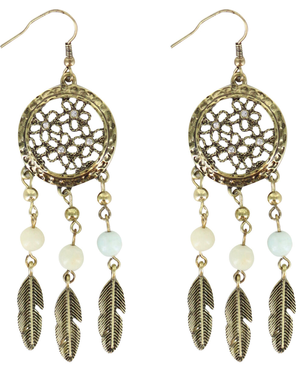 Shyanne Women's Sunset Dream Catcher Earrings, Bronze, hi-res
