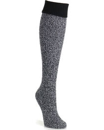 K-Bell Women's Soft & Dreamy Cuff Ribbed Knee High Socks, , hi-res