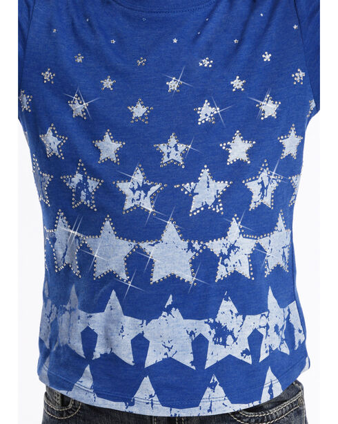 Rock and Roll Cowgirl Youth Stars T-Shirt , Blue, hi-res