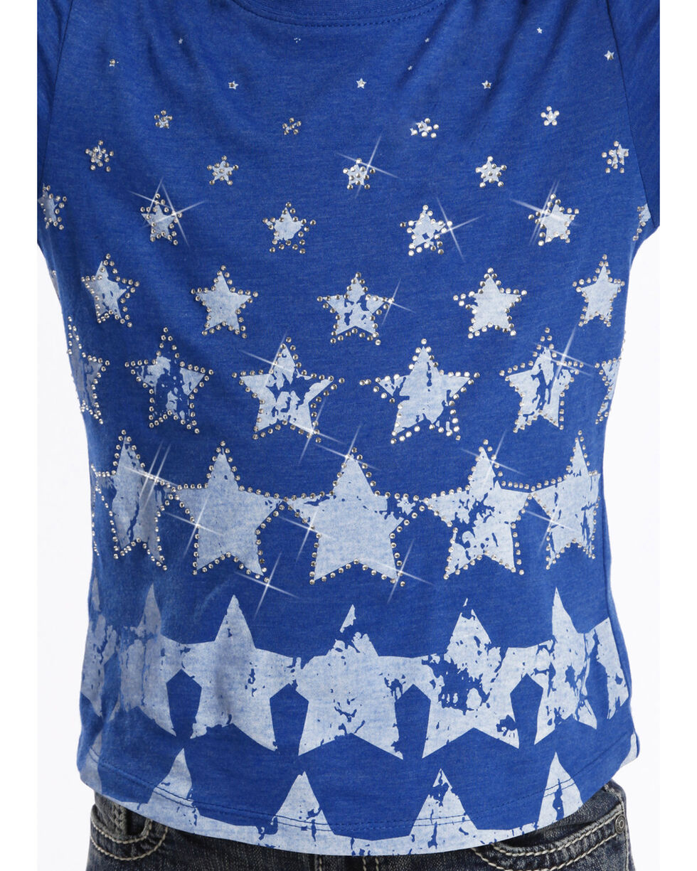 Rock and Roll Cowgirl Girls' Stars T-Shirt , , hi-res
