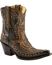 Corral Women's Distressed Studded Western Booties, , hi-res