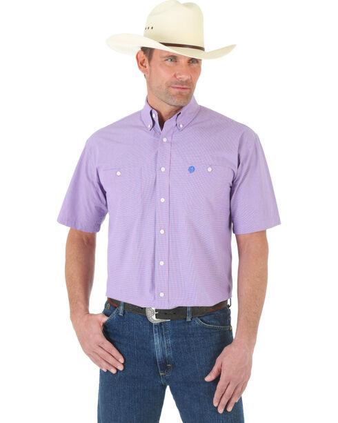 Wrangler George Strait Men's Button Down Collar Shirt, Blue, hi-res
