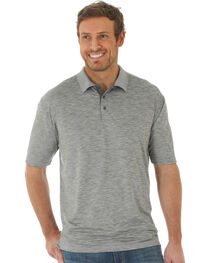 Wrangler 20X Men's Grey Advanced Comfort Performance Polo , , hi-res