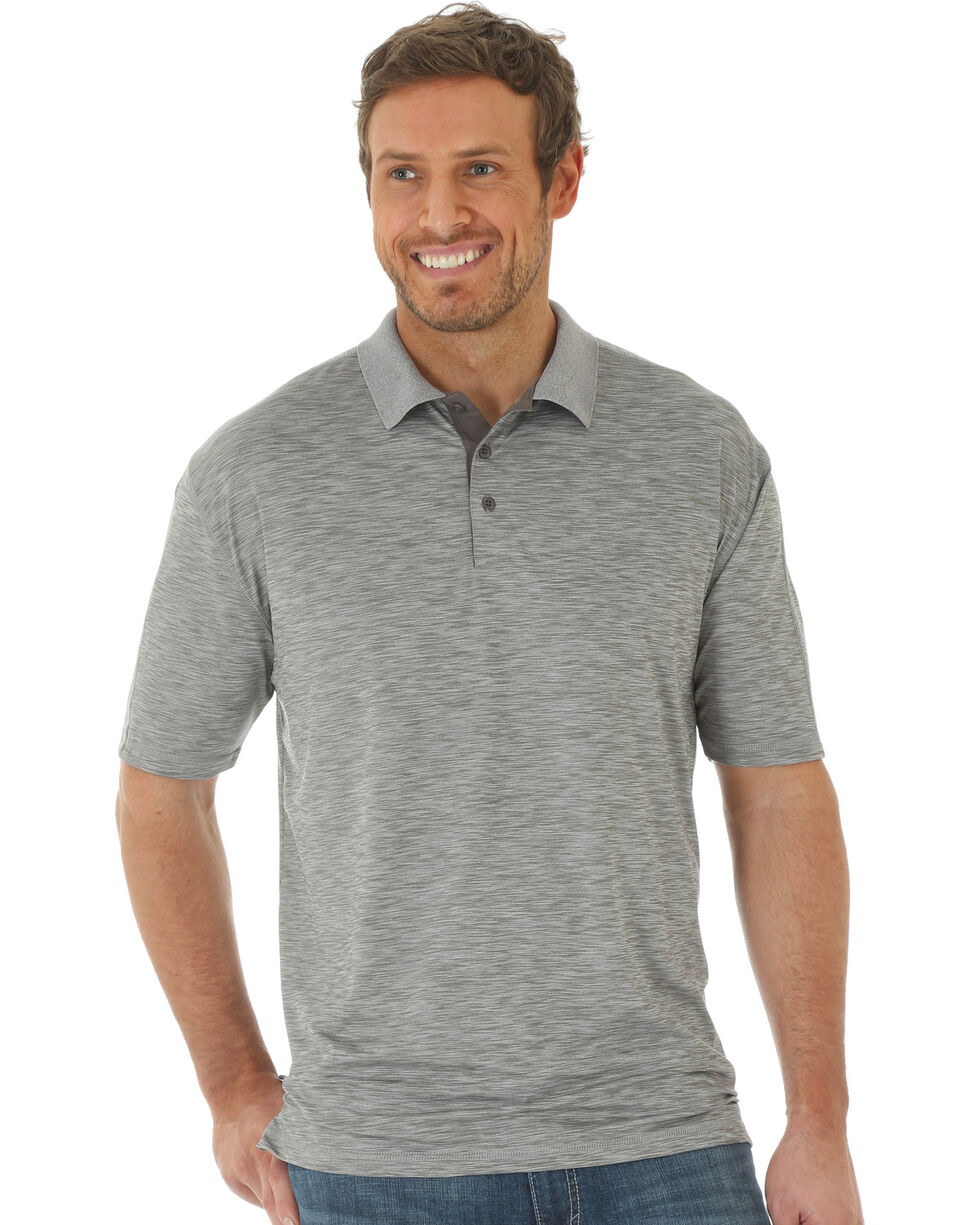 Wrangler 20X Men's Grey Advanced Comfort Performance Polo , Grey, hi-res