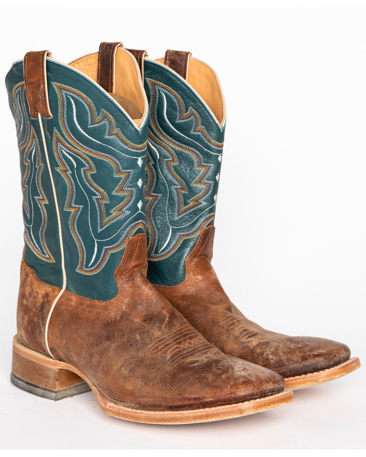 mens square toe cowboy boots