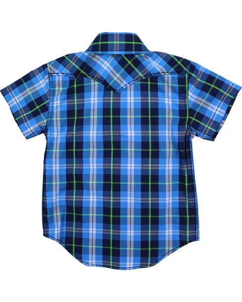 Cody James® Toddlers' Plaid Short Sleeve Shirt, Blue, hi-res
