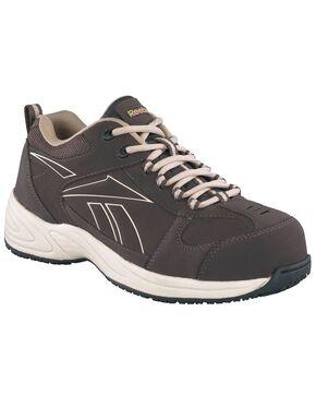 Reebok Women's Jorie Athletic Jogger Work Shoes - Composition Toe, Brown, hi-res