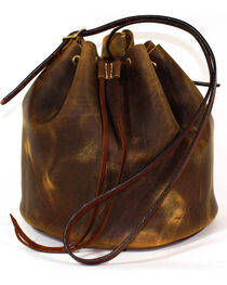 SouthLife Supply Women's Aged Bourbon Drawstring Bucket Bag, , hi-res