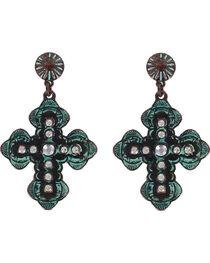Shyanne® Women's Antiqued Western Cross Earrings , , hi-res