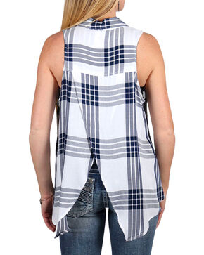 Shyanne® Women's Plaid Collared Tank , Multi, hi-res