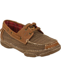 Tony Lama Women's 3R Casual Canvas & Leather Shoes, , hi-res