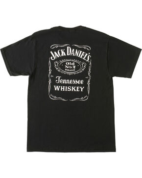 Jack Daniel's Men's Old No.7 Label T-Shirt, Black, hi-res
