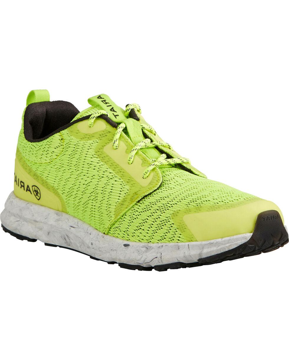 Ariat Women's Fuse Neon Sneakers, Sunshine, hi-res
