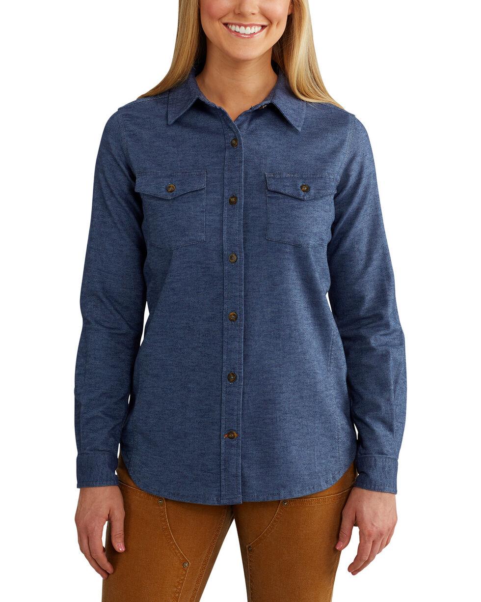 Carhartt Women's Rugged Flex Hamilton Solid Shirt , Slate, hi-res