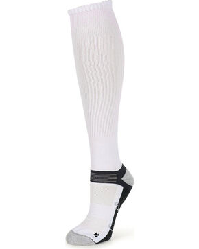 Shyanne® Women's Crew Socks, White, hi-res