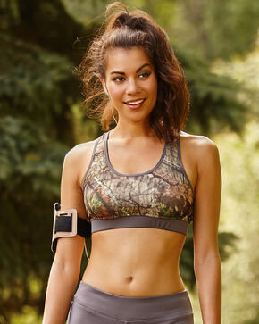 Wilderness Dreams Mossy Oak Break-Up Country Sports Bra, Gunmetal, hi-res