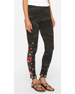 Johnny Was Women's Camo Emilia Leggings , Camouflage, hi-res