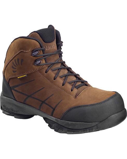 Nautilus Men's Composite Toe ESD Waterproof Hiking Boots, Brown, hi-res