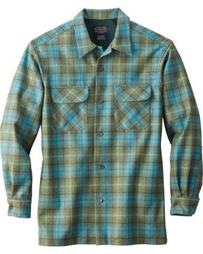 Pendleton Men's Ombre Original Board Shirt , Turquoise, hi-res