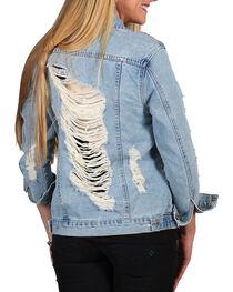 Boom Boom Jeans Women's Distressed Denim Jacket , , hi-res