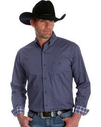 Wrangler Men's 20X Advanced Comfort Blue Dot Competition Shirt , , hi-res