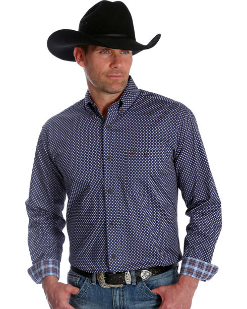 Wrangler Men's 20X Advanced Comfort Blue Dot Competition Shirt , Blue, hi-res