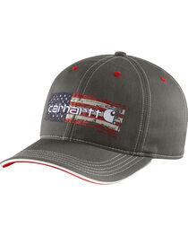 Carhartt Men's Distressed Flag Graphic Ball Cap, , hi-res
